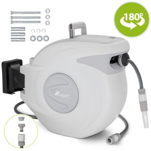 TRESKO® Schlauchtrommel 30m Wasserschlauchaufroller Automatik Schlauchaufroller Schlauchbox