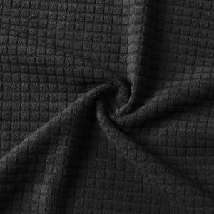 Stretch Sofa Schonbezug Elasthan Anti-Rutsch Soft Couch Sofabezug 4-Sitzer Waschbar für Wohnzimmer Kinder Haustiere (Schwarz)