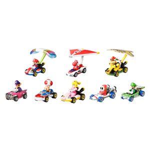 Hot Wheels Mario Kart Glider Set inkl. 8 Spielzeugautos, Rennautos