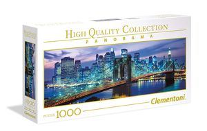 Clementoni High Quality Collection New York Brooklyn Bridge 1000 Teile Panorama Puzzel