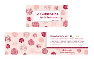 """Gutscheinheft / """"12 Gutscheine für die beste Mama"""""""