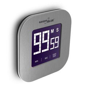 Digitaler Touchscreen Timer Countdown Stoppuhr Magnet Rückseite + Ständer GreenBlue