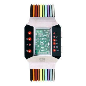 THE ONE Uhr Herren Binär-Armbanduhr Split Screen SC102R6