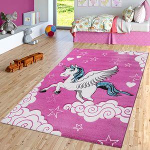Kinderteppich Pink Fuchsia Das Fliegende Einhorn Spielteppich, Größe:80x150 cm