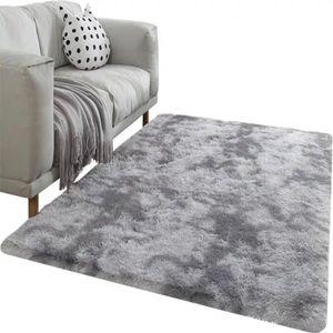 Moderne Hause Teppich Krawatte Färben Plüsch Weichen Teppich Für Wohnzimmer Schlafzimmer Anti-slip Fußmatten Schlafzimmer Wasser Absorption teppich Teppiche