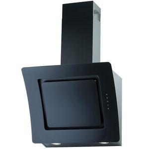 PKM Dunstabzugshaube mit Randabsaugung Kopffreihaube S2-60 ABTZ Glas schwarz