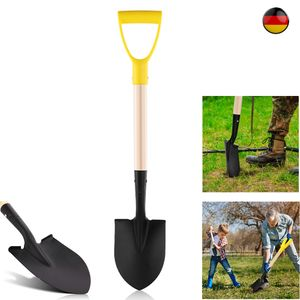 70 CM Minispaten Spaten Gartenspaten Pionierspaten Spitzspaten aus Stahl mit holz Stie