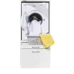 70-183-17 WASHTOWER 3 Weiß Putzschrank Waschmaschine Trockner Mehrzweck Hauswirtschaftsraum