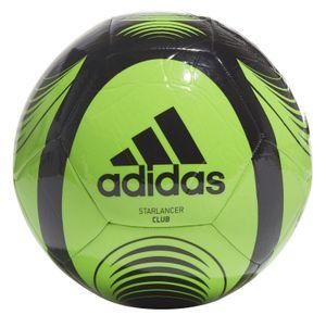 adidas Fussball Trainingsball Starlancer Club Ball grün schwarz, Größe:5