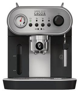 Gaggia RI8525/01 Carezza Deluxe Espresso Siebträgermaschine Schwarz Retrodesign