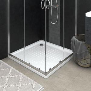 CHIC® Duschwanne Anti-Rutsch Antirutsch extra-flach Duschtasse Modern-Design Für Badezimmer Weiß 80x80x4 cm ABS Größe:80 x 80 x 4 cm💦8407