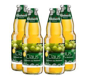 Klindworth Claus 4er Set Glühwein aus Weißwein - 4x Winterlust Glühwein 1L (9,8% Vol) inkl. Pfand MEHRWEG- [Enthält Sulfite]