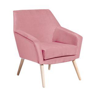 Max Winzer Alegro Sessel - Farbe: rosé - Maße: 67 cm x 71 cm x 81 cm; 2874-1100-2044206-F01