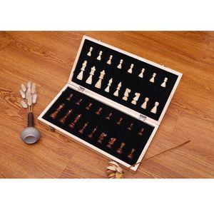 """Magnetische Schach Set 15 \""""x 15\"""" Intarsien Holz Schach Set mit Klapp Schachbrett Schach Stück, lagerung Box Set Holz Bord Spiel"""