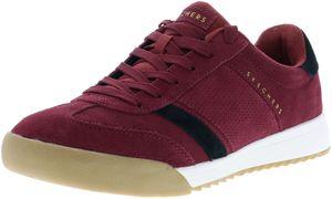 SKECHERS 52325/BUBK Zinger-Wildview Herren Sneaker rot/weinrot/schwarz, Größe:42, Farbe:Rot