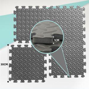 Bodenschutzmatte Schutzmatte Puzzlematte Bodenschutz Unterlegmatte Bodenmatte, Farbe:30x30 Schwarz 18er