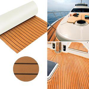 Elegant EVA Teak Bodenbelag 890x2300x6mm Fußboden Selbstklebend Platte für Yacht Boot