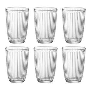 Bormioli Rocco 5.80503 Line Longdrinkbecher 390 ml, H: 12 cm, ø 8,5 cm, Glas, klar, klar (6er Pack)