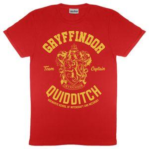 Harry Potter - Gryffindor Quidditch T-Shirt für Herren PG1531 (2XL) (Rot)