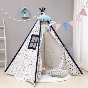 Tipi Zelt Fuer Kinder Kinderzimmer Spielzelt Baumwoll Teepee