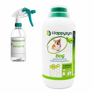 Geruchsneutralisierer Geruchs- & Fleckenentferner 1 Liter Konzentrat für Hundeurin und Hundegerüche   Mikrobiologischer Reiniger und Geruchsentferner