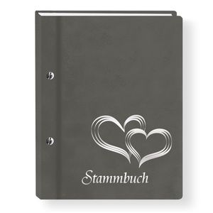 Stammbuch der Familie Glamour grau Stammbücher A4 Familienstammbuch Hochzeit