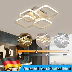 38W LED Deckenleuchte Deckenlampen Dimmbar Wohnzimmer Badleuchte Küchen Lampe  Weiß