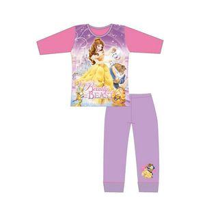 Beauty And The Beast Mädchen Pyjama Set SI686 (116) (Bunt)