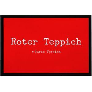 Fußmatte roter Teppich kurze Version Hollywood rutschfest & waschbar Moonworks® weiß 60x40cm