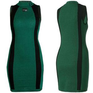 adidas Damen Strickkleid Dress Gr.38 grün-schwarz (BK2279)