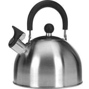 Flötenkessel Pfeifkessel Wasserkessel 2,5 l Edelstahl