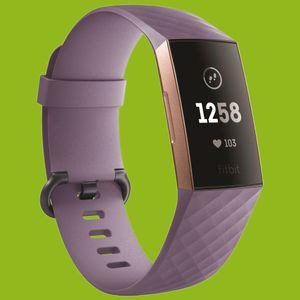 Für Fitbit Charge 3 / 4 Kunststoff / Silikon Armband für Frauen / Größe S Hell-Lila Uhr