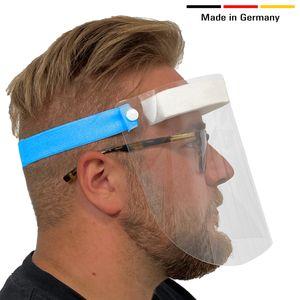 HARD 10 x Visier Gesichtsschutz aus Kunststoff   Face Shield in Blau   Universales Gesichtsvisier für Erwachsene   Visier zum Schutz vor Flüssigkeiten    Germany