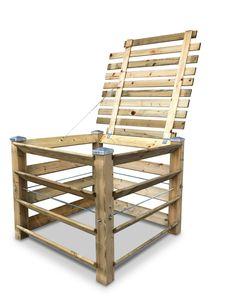 stabiler ECO Holz-Komposter mit Deckel und Kappen - ca. 650 L