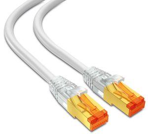 mumbi LAN Kabel 25m CAT 7 Rohkabel Netzwerkkabel S/FTP PimF CAT7 Rohkabel Ethernet Kabel Patchkabel RJ45 25Meter, weiss