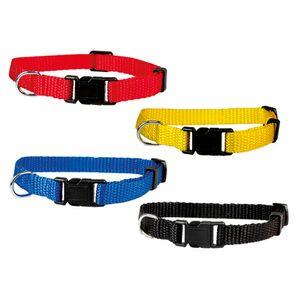 Welpenhalsbänder aus Nylon Hausumfang von 19 bis 32 cm 10mm breit 4 Farben gelb