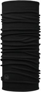 Buff Midweight Merino Wool Schlauchschal solid black