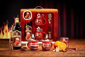 Feuerzangentasse Geschenkset, Klassisch, Rot/Störtebeker - für Feuerzangenbowle