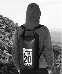 Wasserdichter Dry Bag, 20L Wasserdicht Taschen mit Schnalle, (schwarz) wasserdichte Packsäcke Verstellbaren Schultergurten für Boot, Kajak, Angeln, Rafting, Schwimmen, Strand