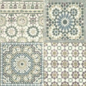 DUTCH WALLCOVERINGS Tapete Marokkanische Fliesen Braun