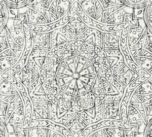 A.S. Création Vliestapete Boho Love Tapete schwarz weiß grau 10,05 m x 0,53 m 364613 36461-3