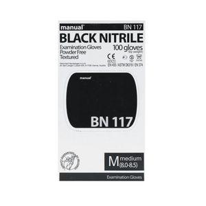 Heliomed Black Nitrilhandschuhe Gr. M Einweghandschuhe 100 Stück Handschuhe Nitril