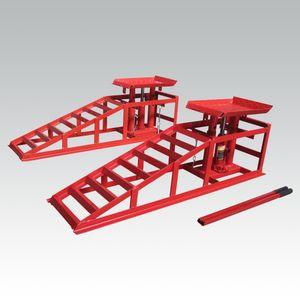 2x Auffahrrampe PKW höhenverstellbar hydraulisch Wagenheber Hebebühne Rampe Hebeplattform