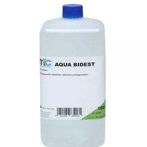 Medicalcorner24 Bidestilliertes Wasser AQUA BIDEST, Laborwasser, Reinst-Wasser, 1000 ml