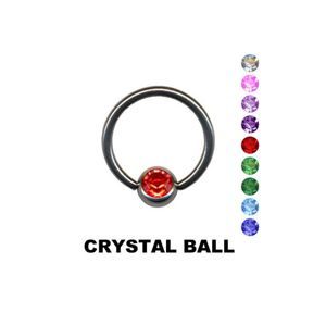 BCR Klemmkugel Ring: Lippenbändchen Klemmring Piercing, Farbe:Weiß, Größe:8 mm