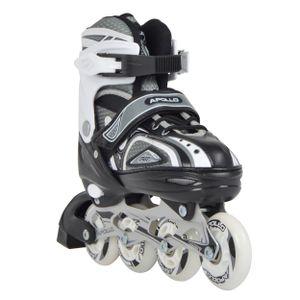"""Apollo Inliner """"Super Blades X Pro"""" größenverstellbare Inline Skates mit 2 LED Wheels Größe M (35-38) - schwarz"""