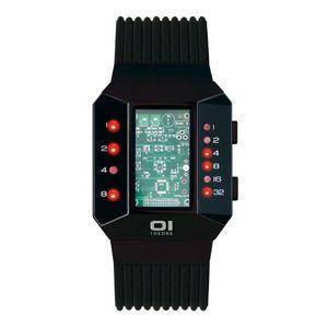 THE ONE Uhr Herren Binär-Armbanduhr Split Screen SC202R5