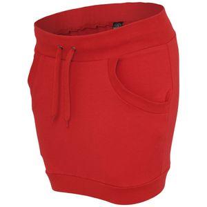 URBAN CLASSICS LADIES TERRY SKIRT, Größe:XS, Farbe:red