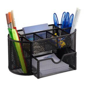 relaxdays Schreibtischorganizer mit Stifthaltern