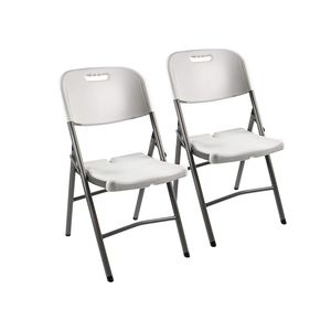Vanage Klappstuhl in weiß - Campingstuhl, Gartenstuhl im 2er Set - Klappsessel - Gartenmöbel - Stuhl für Garten, Terrasse und Balkon geeignet
